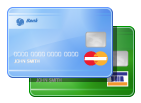 Description of credit/debit cards, how to get money via Visa/MasterCard